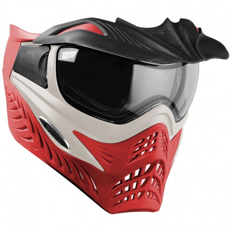 VForce Grill SC Paintball Mask - Silver On Red