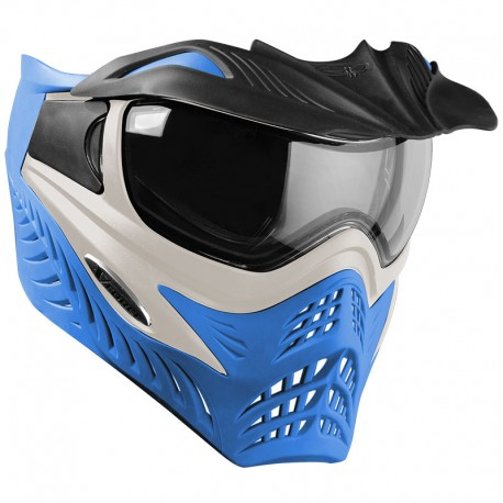 VForce Grill SC Paintball Mask - Silver On Blue