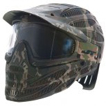 JT Flex 8 Full Coverage Paintball Mask Thermal Camo