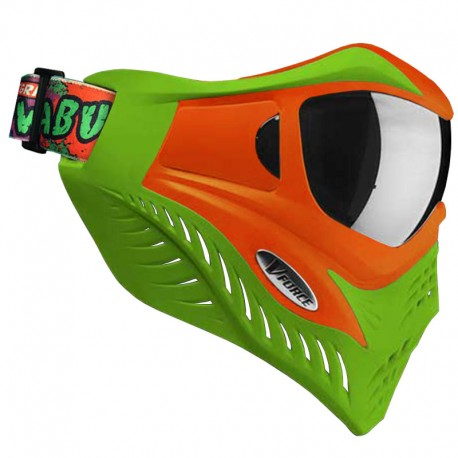 VForce Grill Paintball Mask - Cowabunga Series Orange/Green