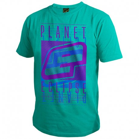 Planet Eclipse Fade T-Shirt Teal