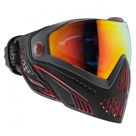 DYE i5 Paintball Mask Thermal FIRE Black/Red