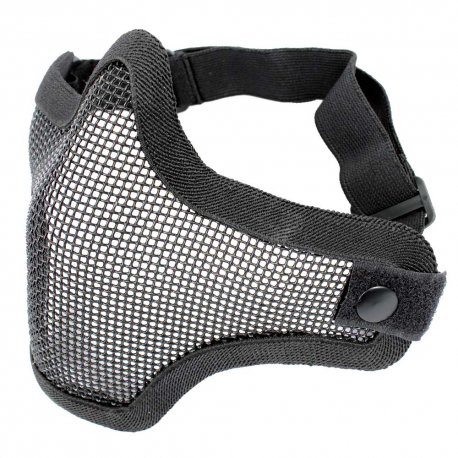 Steel Mesh Half-Face Mask Black