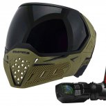 Empire EVS Paintball Mask w/ H.U.D. Olive/Black