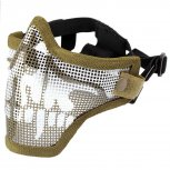 Steel Mesh Half-Face Mask Tan Skull