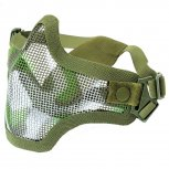 Steel Mesh Half-Face Mask Jungle Camo