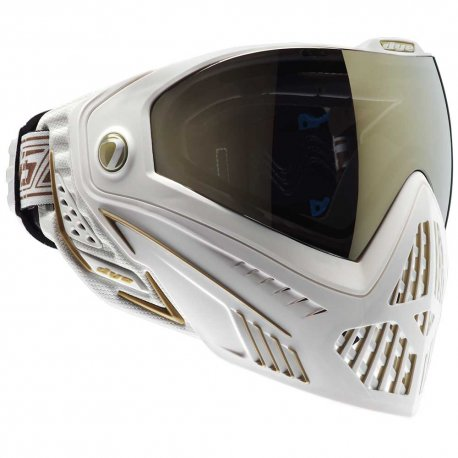 DYE i5 Paintball Mask Thermal White/Gold