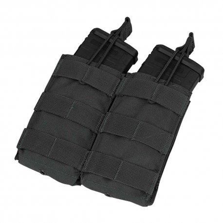Condor Double Open Top M4/M16 Mag Pouch - Black