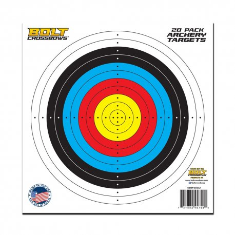 "20 Pack of 11"" x 11"" Paper Archery Targets"