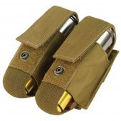 Condor Double 40mm Grenade Pouch - Coyote Brown