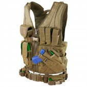 Condor Crossdraw Vest - M/L - Coyote Brown