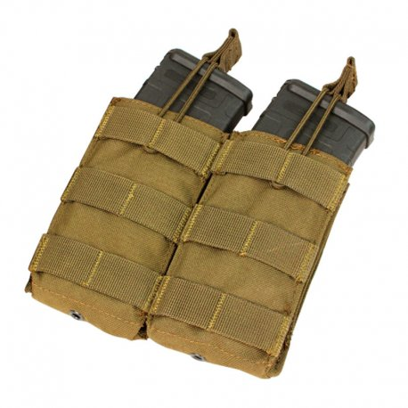 Condor Double Open Top M4/M16 Mag Pouch - Coyote Brown