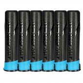 HK Army 165 Round Push Button Paintball Pods 6 Pack - Smoke/Turquoise