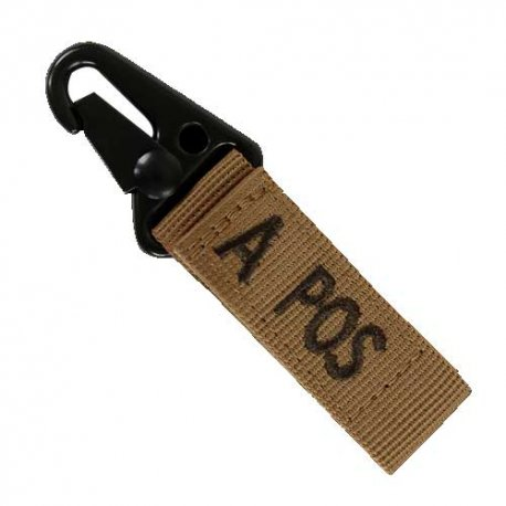 Condor Blood Type Key Chain A+ - Coyote Brown