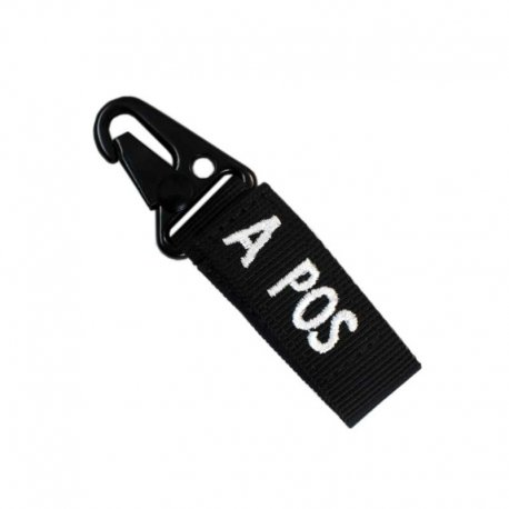 Condor Blood Type Key Chain A+ Black