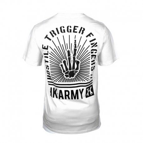 HK Army Trigger Fingers T-Shirt - White