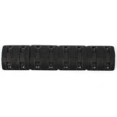 Modular 1913 Picatinny Rail Cover Double Black - 4 Pack