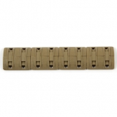 Modular 1913 Picatinny Rail Cover Double Black Tan - 4 Pack