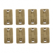 Modular 1913 Picatinny Rail Cover Single Tan - 8 Pack