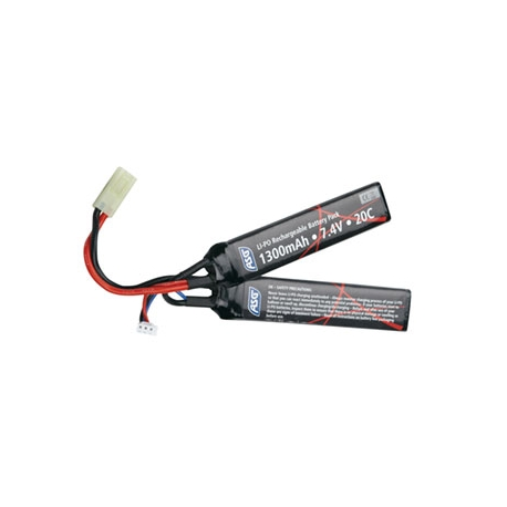 7.4V 1300 mAh Li-Po Stick Airsoft Battery