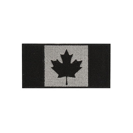 Patch - Canadian Flag - 4X2 - Black