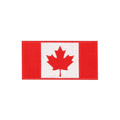 Patch - Canadian Flag - 4X2 - Red