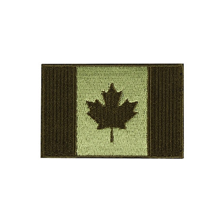 Patch - Canadian Flag - 3X2 - Olive