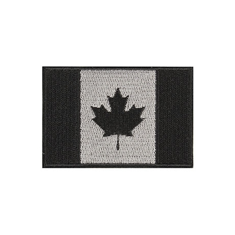 Patch - Canadian Flag - 3X2 - Black