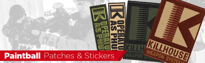 Paintball Stickers, Patches & Promotional Gear