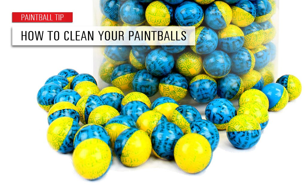 How to Clean Your Paintballs