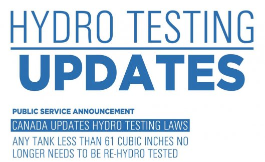 Canada Updates Hydro Testing for Paintball Tanks